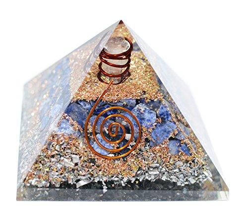 Pietra shui regalo fen generatore di energia sodalite pietra con la matita organo piramide chakra reiki healing