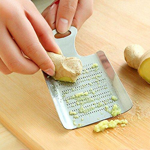 "ZqiroLt K¨¹che liefert, Reparierwerkzeug Lemon Zester Kitchen Cook Tool Knobllic Grater Ginger Press Crusher Spice Grinder-Silver\"""