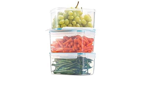 Nourriture Conteneur Boîte de rangement en plastique Set Multi Couleur Rond Couvercle 7PC Clair