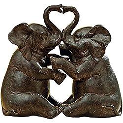 Pareja de elefantes Figura decorativa en resina