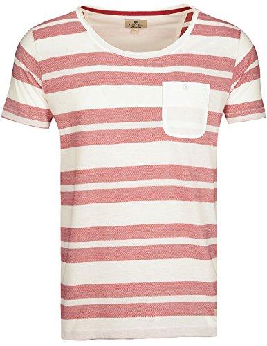 Basefield Herren Streifen Shirt Slim Fit - Waterfall (218000615) 402 HEATHER RUBY