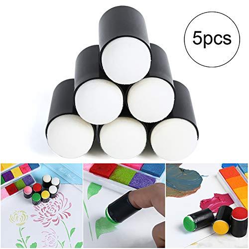 Deanyi 5Stk Finger Schwamm Daubers Kunst und Kunsthandwerk Zeichnung Projekt Finger Painting Sponge Set Bürobedarf (Finger Schwämme Malen)