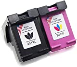 Toner Kingdom 2 Pack 301XL 301 XL High Yield Ink Cartridges Compatible For HP CH561EE CH562EE CH563EE CH564EE 1000 1010 1050a 1055 1510 1512 1514 2000 2050 2054a 2510 2514 2540 2542 2544 3000 3050 3052 3055 2620 2622 2624 4630 4632 4634 4636 Envy 4500 4502 4504 4505 4507 5530 5532 5534 5539 Printer (1 Black + 1 Tri-Colour)