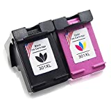 Toner Kingdom 2 Pack Compatibile HP 301 XL Cartucce d'inchiostro Per HP Envy 4500 4502 4504 4507 5530 5532 5534 5536 Deskjet 2540 2542 1000 1010 1050 1050a 1510 1512 1514 2050 2050a 2054a 2510 2512 2514 2543 2544 2545 2547 2548 2549 3000 3055a 3057a 3059a 3050 3050a 3052a 3054a Officejet 2620 2622 2624 4630 4632 4634 4636 (1 Nero + 1 Tri-colore)