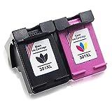Toner Kingdom 2 Pack Compatibles HP 301XL 301 XL Cartucho de tinta para HP CH561EE CH562EE CH563EE...