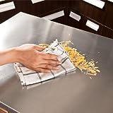 SoBuy® Luxus-Küchenwagen aus hochwertigem Bambus mit Edelstahltop, Küchenschrank, Kücheninsel B66xT46XH90cm FKW13-N - 4
