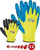 Kinder Arbeitshandschuhe Latex Schutzhandschuhe Gartenhandschuhe Handschuhe Kinderhandschuhe orange Gr. 2-6 6 (1, 3)