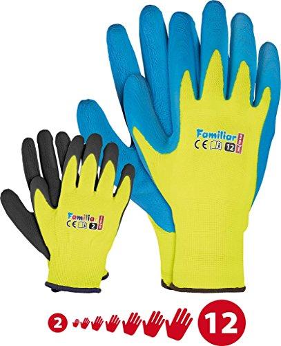 Kinder Arbeitshandschuhe Latex Schutzhandschuhe Gartenhandschuhe Handschuhe Kinderhandschuhe Familie Gelb Schwarz Blau Gr. 2-12