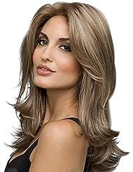 MMlove 24 '' Longues Perruques à Cheveux Ondulés et Ondulés Perruque Synthétique Sexy Résistant à la Chaleur des Femmes