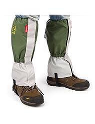 AOTU Unisexe etanche guetre de randonne Escalade Ski Alpinisme activites Exterieur Protection de jambe anti-neige sable vert
