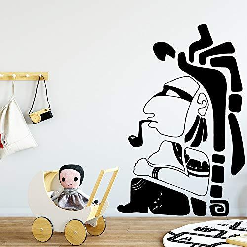 yaoxingfu Cartoon Tribal Chief Vinyl Wallpaper Roll Furniture Decorative Decor Living Room Bedroom Removable Background Wall Art De30cm X 45cm