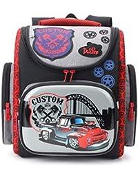 cc7ed137c11878 Delune Cartable Garçon Primaire Sac à Dos Enfant Backpack Sac d école pour  Les Garçons Cadeau de Rentrée…