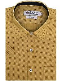 Arihant Men's Half Sleeves Printed Cotton Regular Fit Formal Shirt