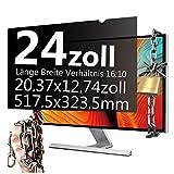 Xianan 24 Zoll Widescreen 16:10 Displayfilter Blickschutzfilter Blickschutzfolie Blickschutz Sichtschutz 20,37x12,74zoll/517,5x323,5mm