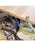 3 Packs Purse Hook Handbag Folding Hangers with a Velvet Bag Handbag Table Hanger for Women Bags, 3 Styles