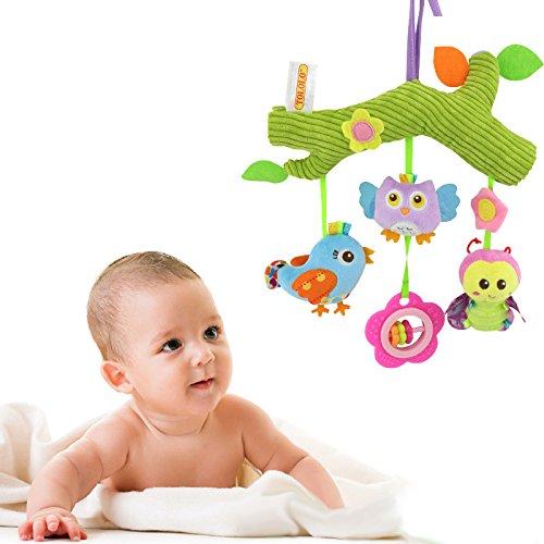 XuBa Kinder-Spaziergänger und Reise-Tätigkeits-Spielzeug, Baby-musikalische Bett-hängende Spielwaren, Autositz-angefüllte Spielwaren mit klingelndem Bell-Spiegel-Wraps um Krippen-Schiene Pastoral life (Bett-schiene Für Reise Baby)