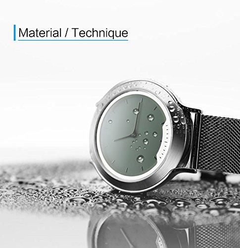 ZHAS Intelligentes Uhr-Hologramm-Transparenter Schirm-Versprechen, Der Alle Stahl-Bluetooth-Sport-Uhr Auflädt,Black