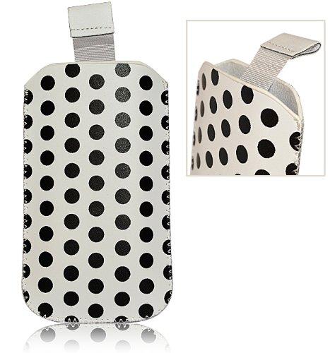 Accessory Master- Bianco Custodia Pocket Custodia Slip in finta pelle per Samsung Galaxy Gio S5660