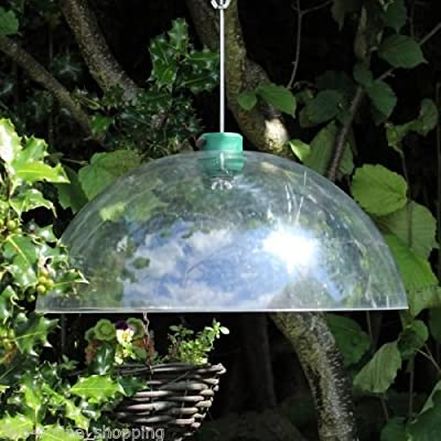 Garden Mile® Large Universal 40cm Clear Squirrel Baffle Squirrel Proof Bird Feeder Accessory by Garden Mile®