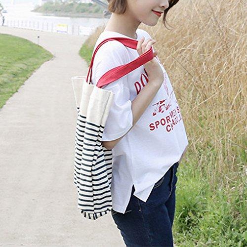 Miaomiaogo Borsa a tracolla portatile del sacchetto della borsa della tela di canapa della borsa della borsa della borsa della tela di canapa rosso