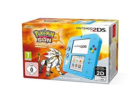 Console Nintendo 2DS : bleu + Pokémon Soleil Préinstallé - édition speciale