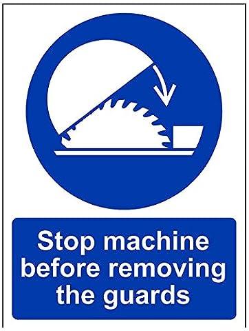 Panneaux Stop - vsafety 42003an-r obligatoire Machine panneau, en plastique