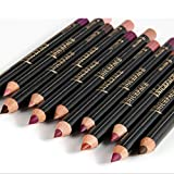 ROMANTIC BEAR Professionelle Wasserdichte Lippenkonturenstift Set,12 Nude Farben Lip Liner Make Up Pencil set