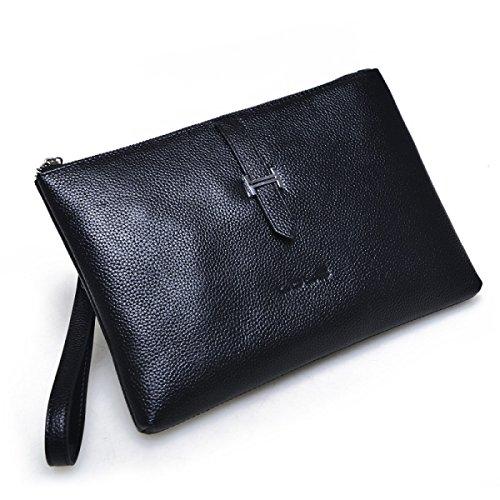 Pochette In Pelle Borse Moda Di Grande Capacità Della Frizione Degli Uomini,Brown black