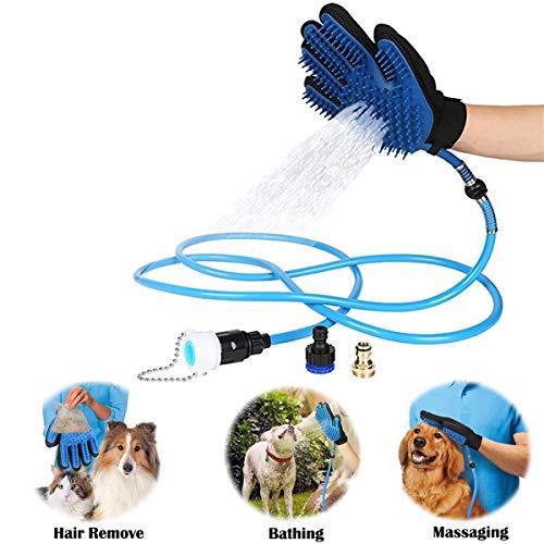 Buycitky Haustier Duschkopf Haustier Badewerkzeug Duschkopf Haustier Dusche Sprayer mit Bürste Haustier-Badewerkzeuge Hundedusche Duschkopf 8 Fuß Schlauch für Hund Außenpflege Massage by