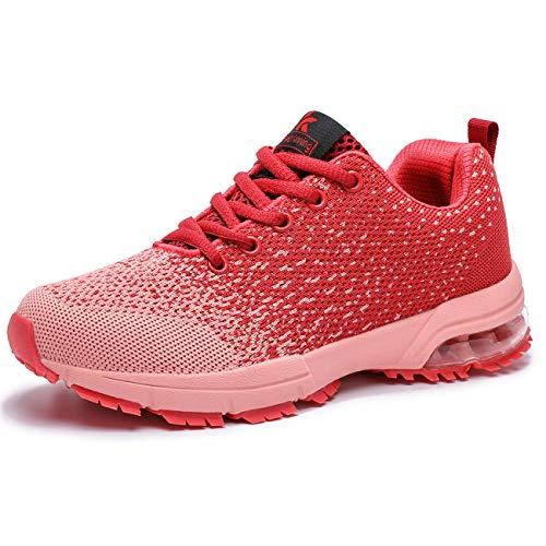 Kuako Damen Turnschuhe Atmungsaktiv Straßenlaufschuhe Sportschuhe Air Fitness Sneaker Laufschuhe