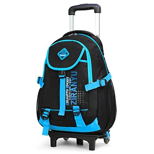 Imagen de cute lovely bolsas de viaje nailon impermeable  escolar niños bolsas de hombro senderismo maletas con extraíble mano con ruedas para alumnos estudiantes de primaria varios colores azul