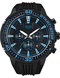 Pulsar Herren-Armbanduhr XL Pulsar X Analog Quarz Kautschuk PT3507X1