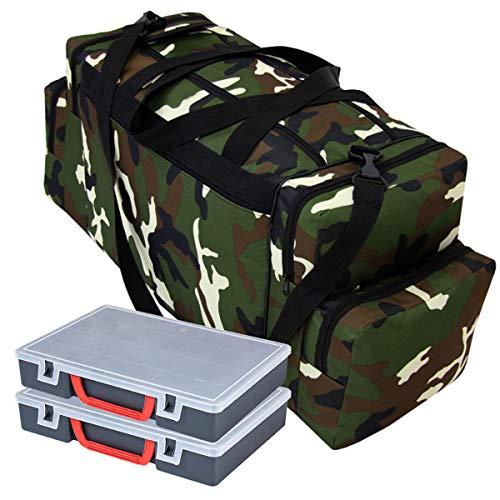 Ferocity Specialist Angeltasche für Zubehör mit inkl. 2 Kunststoff-Boxen Angelboxen Gerätetasche Ködertasche Tasche für Angelköder Tarnfarbe [023]