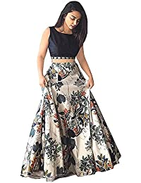Manan Creation Women's Black Mazanta Gown Black Color With Embroidery Work Zari Finising