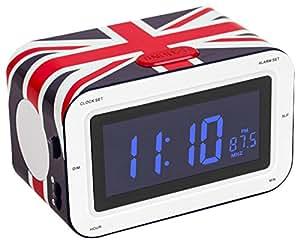 bigben rr30 radio alarm clock union jack tv. Black Bedroom Furniture Sets. Home Design Ideas