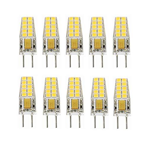 12v Ac Motion Sensor (RZL LED Lights, LED-Lampen ohne Dimmfunktion, 3 W LED GY6.35 (Äquivalent bis 25 W Halogen) 12 V AC/DC (10 Stück) (Farbe : Kaltes Weiß))