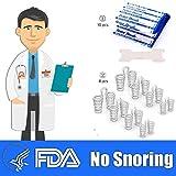 Dispositivos anti ronquidos Dilatadores nasales 8 piezas y tiras nasales 10 unidades para hombres, mujeres, Cómodo y eficaz