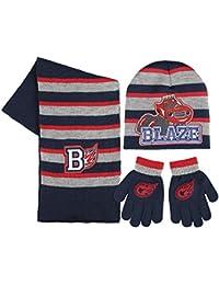 Conjunto gorro guantes bufanda Blaze and the Monster Machine