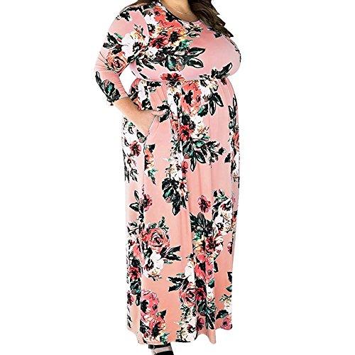 Sommerkleid Damen Lang große Größen mit Ärmel Schwarz für Mollige Abendkleid Übergröße...