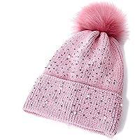 KJNHL Cappello Caldo da Donna Cappello Lavorato a Maglia Cappello Invernale  Cappello da Donna alla Moda 2bedac8d6e21