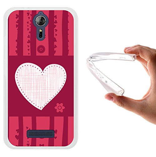 WoowCase Acer Liquid Zest Plus Hülle, Handyhülle Silikon für [ Acer Liquid Zest Plus ] Liebesherz Handytasche Handy Cover Case Schutzhülle Flexible TPU - Transparent