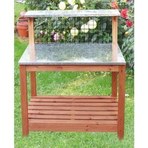 Gartentisch mit verzinkter Arbeitsplatte 101 x 55 x 117 cm 12/271