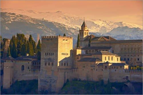 Lienzo 180 x 120 cm: Sierra Nevada and the Alhambra
