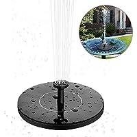 solawill Solar Springbrunnen, Solar Teichpumpe Garten Wasserpumpe mit 1,4W Monokristalline Solar Panel Brunnen Einfache Installation Solar Schwimmender Fontäne Pumpe Springbrunnen Fisch-Behälter