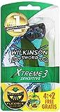 Wilkinson Sword Xtreme 3 Sensitive Einwegrasierer, 4 Stück + 2 gratis