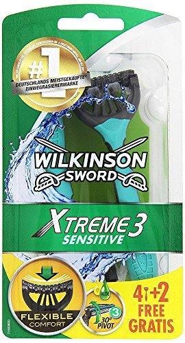 Wilkinson Sword Xtreme 3 Sensitive Einwegrasierer, 4 Stück...