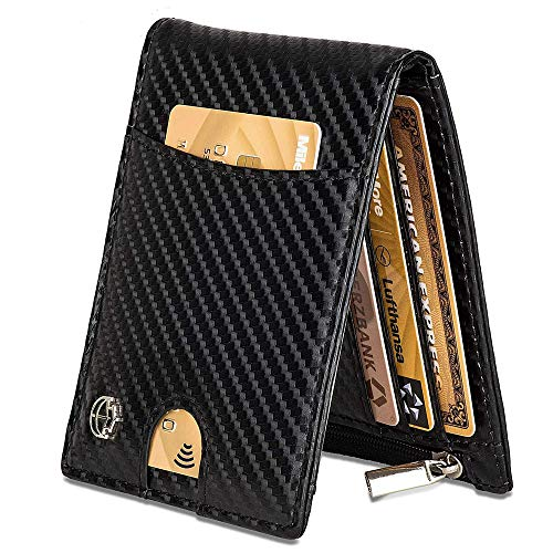 Noah Noir Portmonaise mit Geldklammer und RFID Schutz (TÜV geprüft) Geldbeutel Herren mit 11 Kartenfächer (Husky)