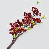 ZHUDJ Lucky Frucht Von Roten Beeren Decke Langen Zweigen Künstliche Bonus Obst Reichen Früchte Künstliche Blumen Wohnzimmer Mit Blumen Home Dekoriert Dann Tief Kastanie Pferde Unterstützung