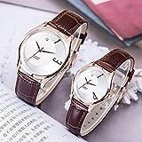CHCHIINCHCH Uhren Liebhaber Uhren Paar Freizeit Markt Herrenuhr Gürtel Uhr wasserdicht Quarzuhr, Rose Gold Paar