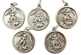 Silber straffen der Erzengel St. Michael Medaillen, viel 5, 11/10,2cm von Religiöse Geschenke